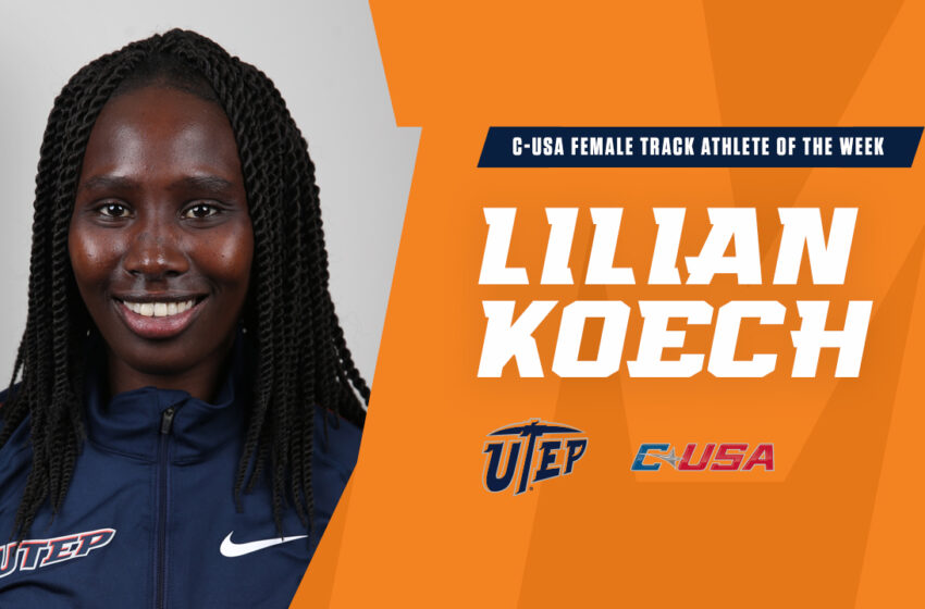 Koech Named C-USA Athlete of the Week