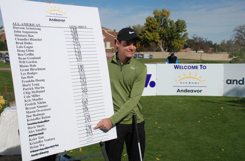 Ventura Sweeps Titleist Long Drive, PING Putting Contests at Sun Bowl Andeavor All-America Golf Classic