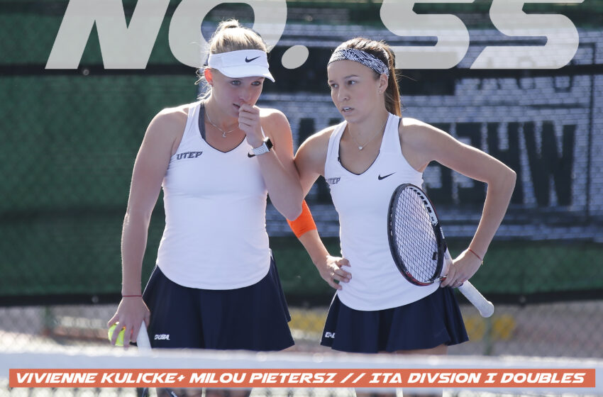 UTEP Tennis Duo Ranked No. 55
