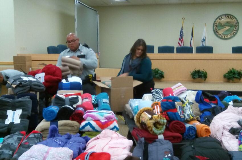 EPCC, EPCSO help keep El Paso warm via blanket drive