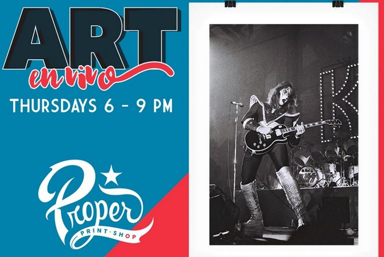 Art Coffee #5 set for Thursday; KISS in El Paso Print to be Featured