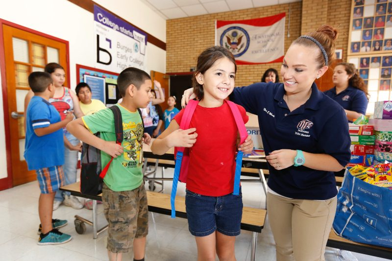 UTEP Nursing Students deliver school supplies