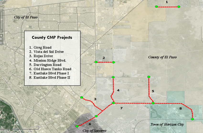 County to break ground on $112m transportation projects in Far East El Paso