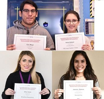 Coronado Journalism Students Honored with National Recognition