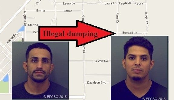 Duo arrested for illegal dumping after truck gets stuck