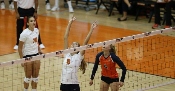 Rice Slips by UTEP in Five Sets