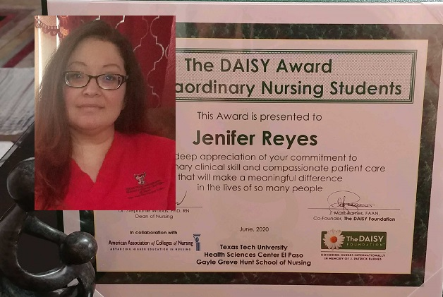 Hunt School of Nursing Student honored for saving a woman from choking