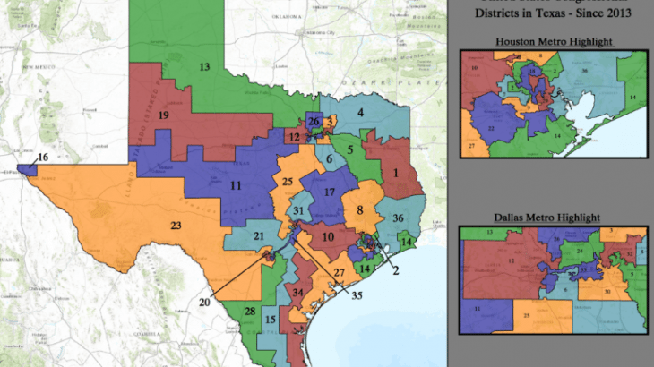 Plaintiffs Want Texas Congressional Districts Redrawn for 2018