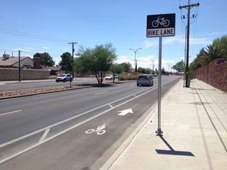 City Starts Work Sunday on West El Paso Bike Lane