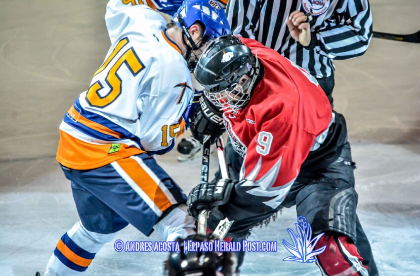 Story in Six Pics: UTEP Hockey defeats UNM 8 to 5
