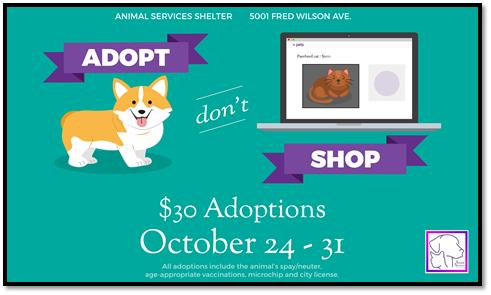 "Animal Services Reminds Community: ""Adopt, Don't Shop"""