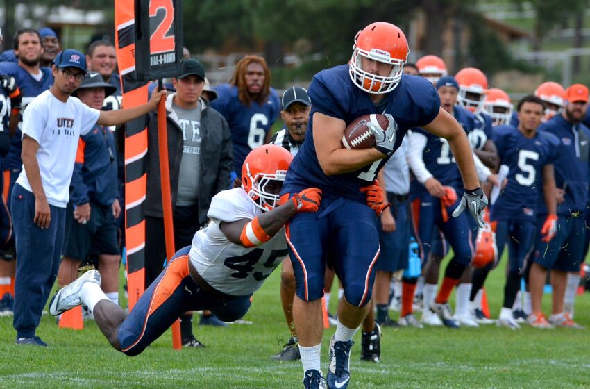 Gallery+Story: UTEP Offense Scores Six Touchdowns in Sunday's Scrimmage