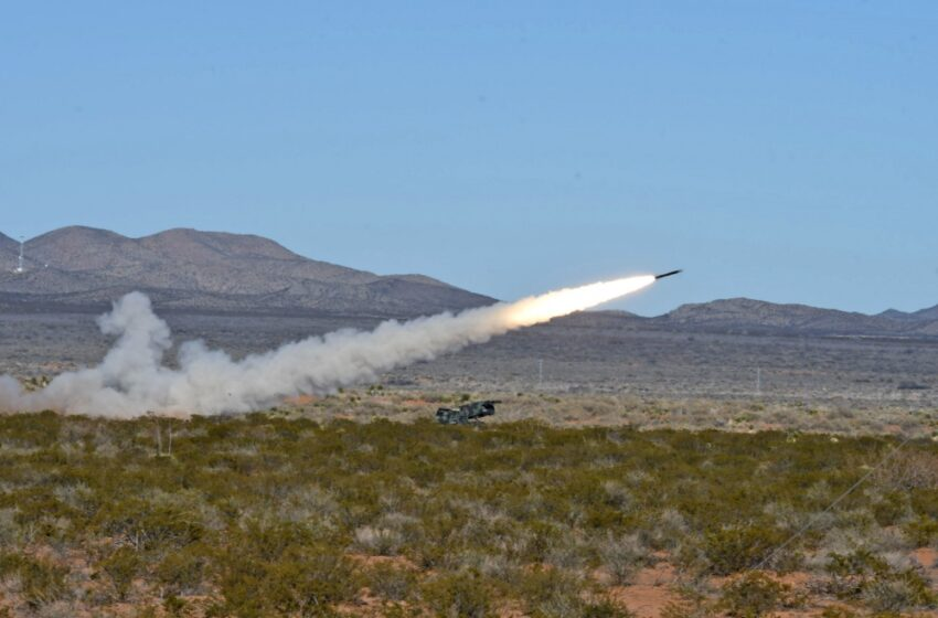 1-147th Field Artillery Battalion Conducts Live-Fire Rocket Exercises