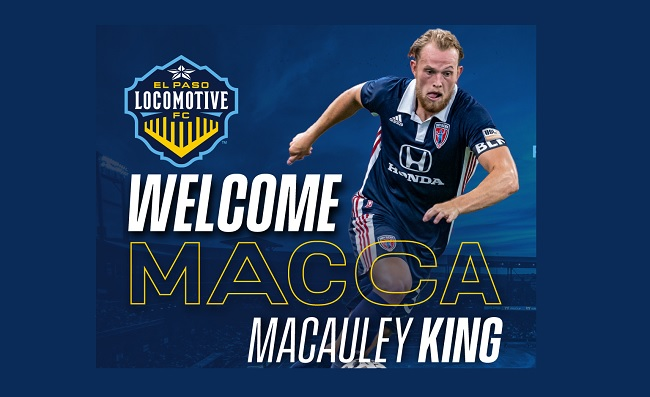 Locomotive FC welcomes Defender Macauley King from Indy Eleven