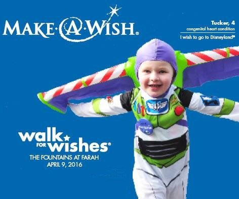 Inaugural Walk For Wishes® set for Saturday at the Fountains at Farah