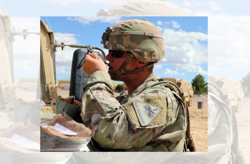 America's Tank Division leads field ration testing mission, takes first bite of the future MRE