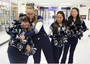 Cheerleading dreams come true for one Hornedo Middle School student