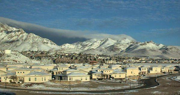 El Paso Region slowly defrosts from 1st Winter Storm of the season