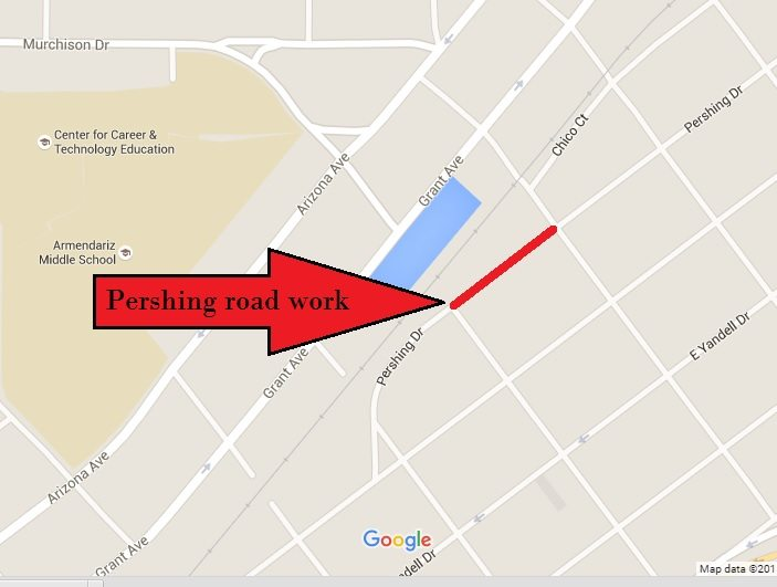 Five Points Quiet Zone project means temporary closure of Pershing Drive Monday