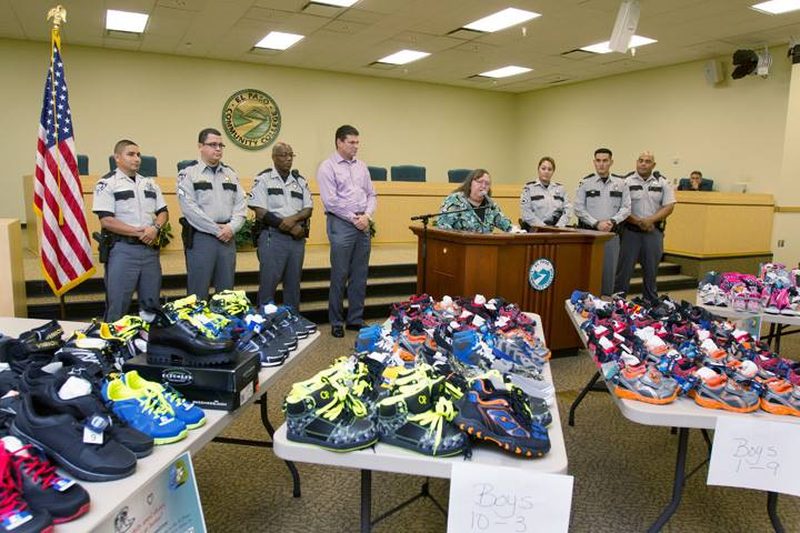 EPCC Staff donate shoes, socks to EPCSO