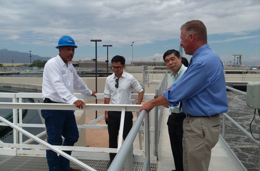 Singapore Utility Officials Tour EP Water Facilities