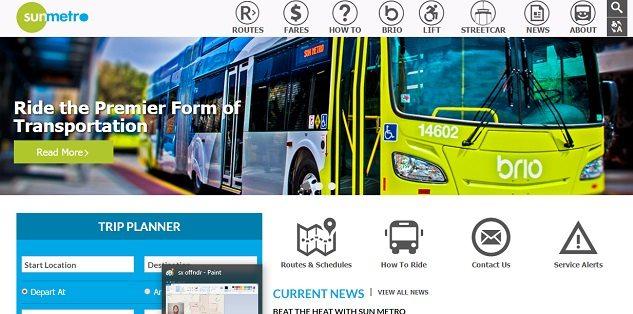 Sun Metro Launches New Website