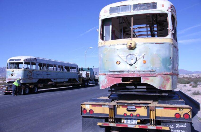 Historic trolleys begin long journey back to service