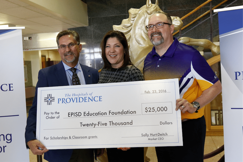 Hospitals of Providence donates $25,000 to EPISD Education Foundation