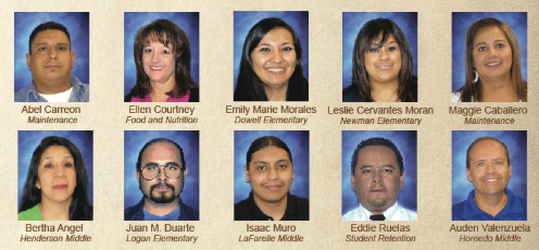 El Paso ISD announces finalists for 2016 Educational Support Personnel of the Year Award
