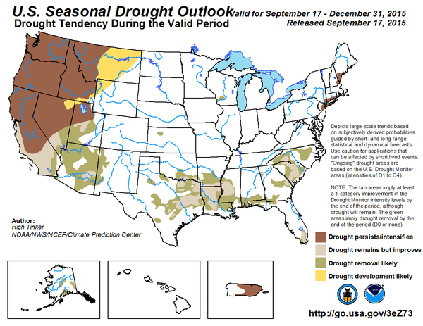 National Weather Service: Strong El Nino set to impact drought areas
