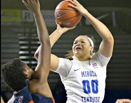 Miners Battle But Fall At League-Leading Middle Tennessee 74-53