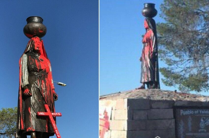 Tigua Pueblo Outraged After New Statue Vandalized