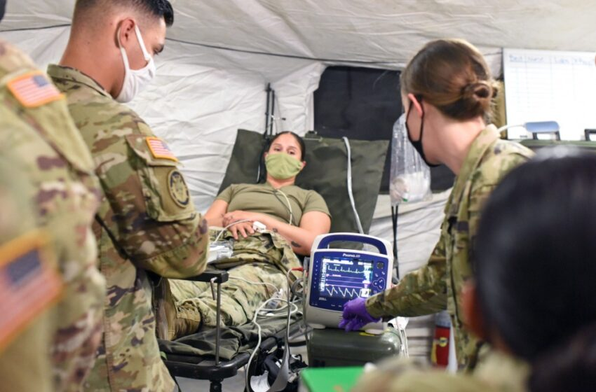 Bliss medical Soldiers tested during field hospital exercise