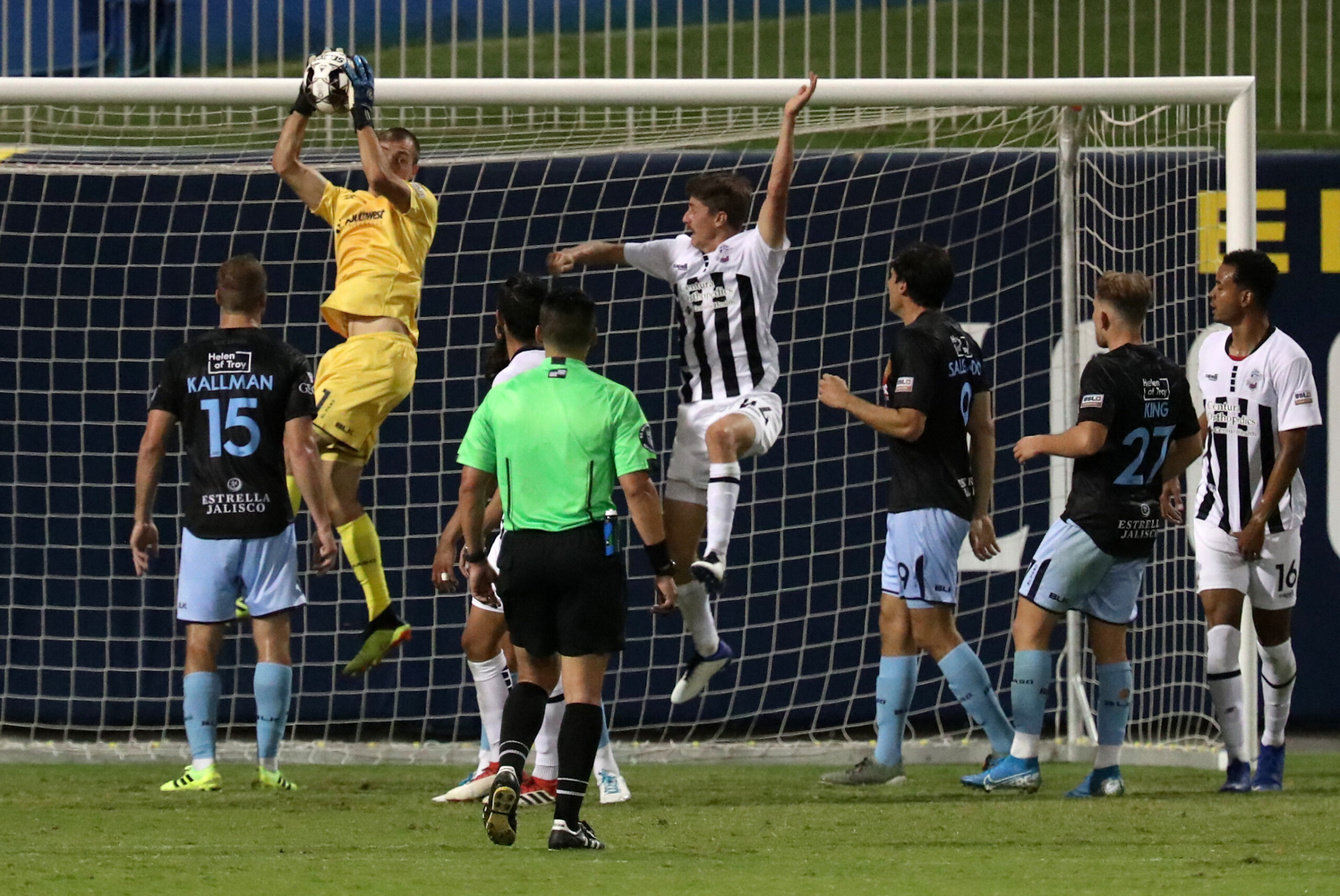FILE: Wednesday night's defensive stops marked Logan Ketterer's sixth clean sheet of the season, while the team extended its undefeated streak to a club-record 10 games. | Photo by Ruben R. Ramirez – El Paso Herald Post