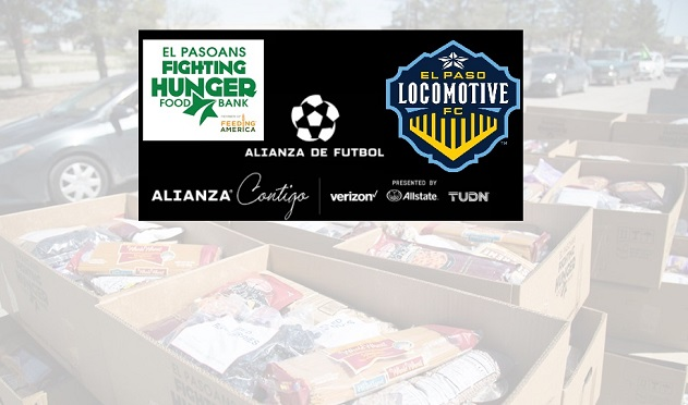 Locomotive FC, El Pasoans Fighting Hunger team up with Alianza de Futbol for distribution event