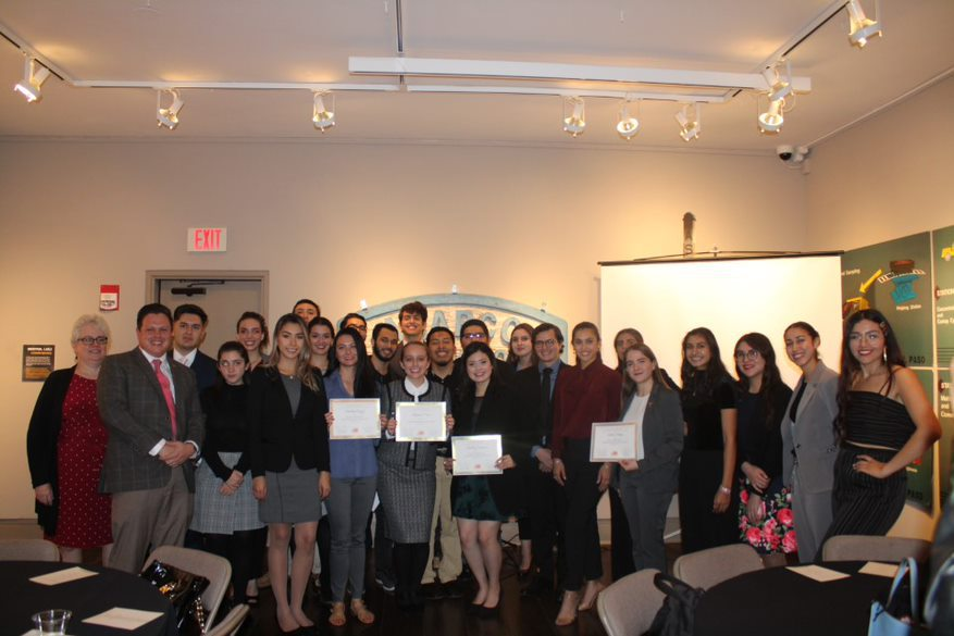 Houston Endowment Scholarship recipients from The University of Texas at El Paso gather Nov. 22, 2019, at the Centennial Museum Discover Gallery for an event as part of the UTEP Honors Program. The program celebrates its 40th anniversary this year. | Photo courtesy UTEP