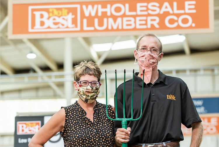 Joe Burks and his wife Jody operate Wholesale Lumber Company in Clint, Texas, plus a second store in Fabens, Texas.