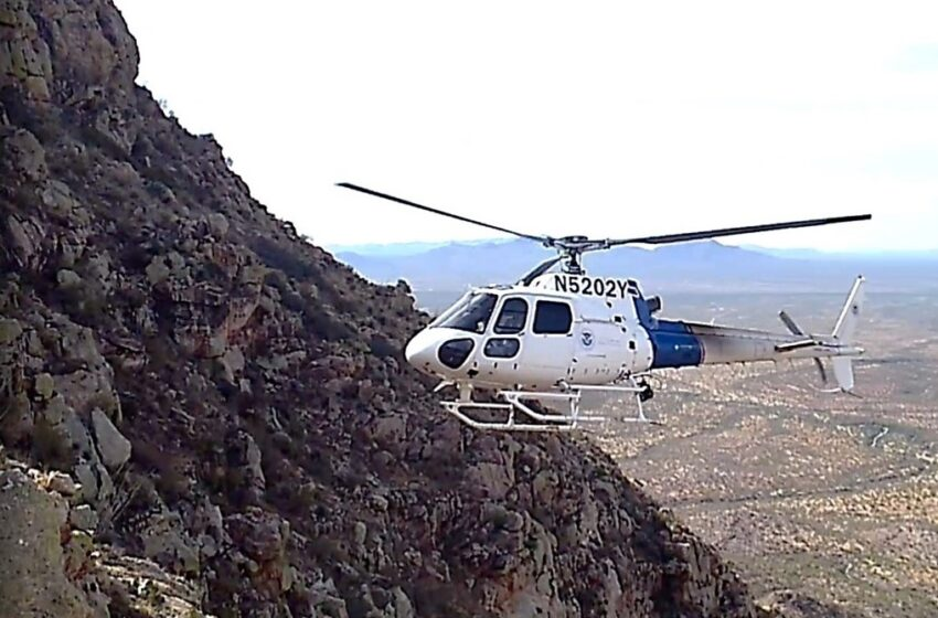 CBP's El Paso Air Branch Aircrews conduct multiple remote location rescues