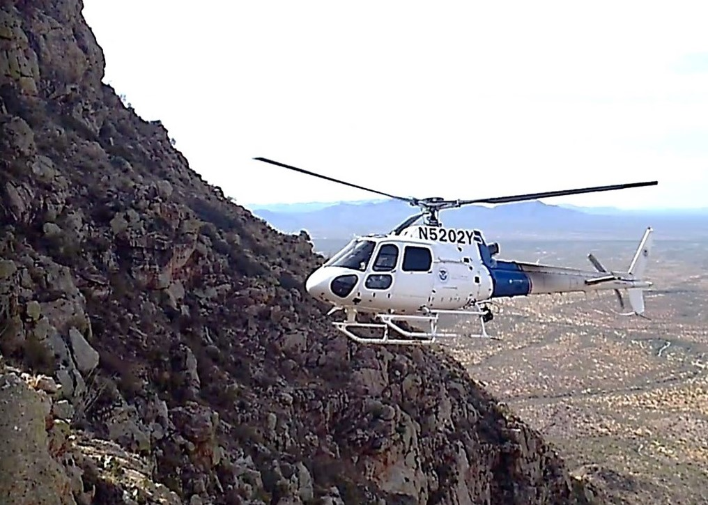 The AS350 Light Enforcement Helicopter (LEH) is a short-range, turbine-powered helicopter used by AMO to perform missions. | Photo courtesy CBP