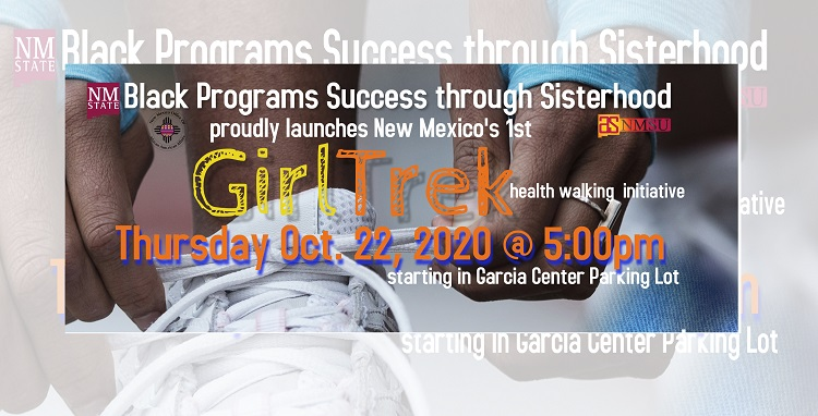 Black Programs will host a Girl Trek Health Walk at New Mexico State University at 5 p.m. Oct. 22. The two-mile walk is open to all campus community members. | Courtesy NMSU
