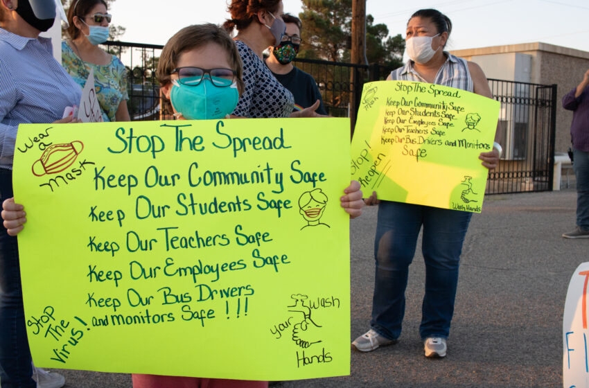 Area families, educators, staff protest in support of 'Safe Reopening of Schools for All'