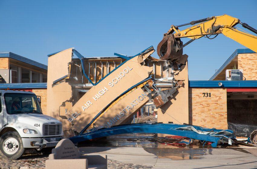 Gallery: Ysleta ISD begins demolition of Bel Air High School