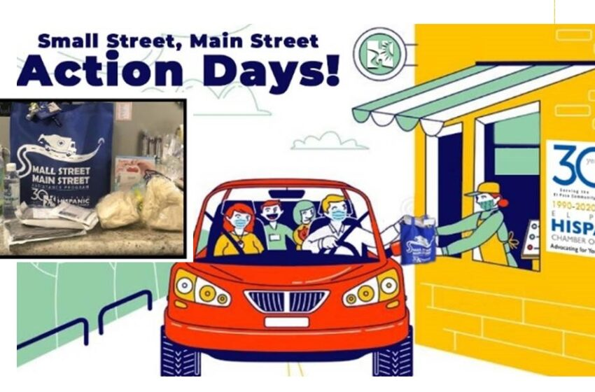 "El Paso Hispanic Chamber of Commerce hosts ""Small Street-Main Street Assistance Program"" Drive-Thru Station"
