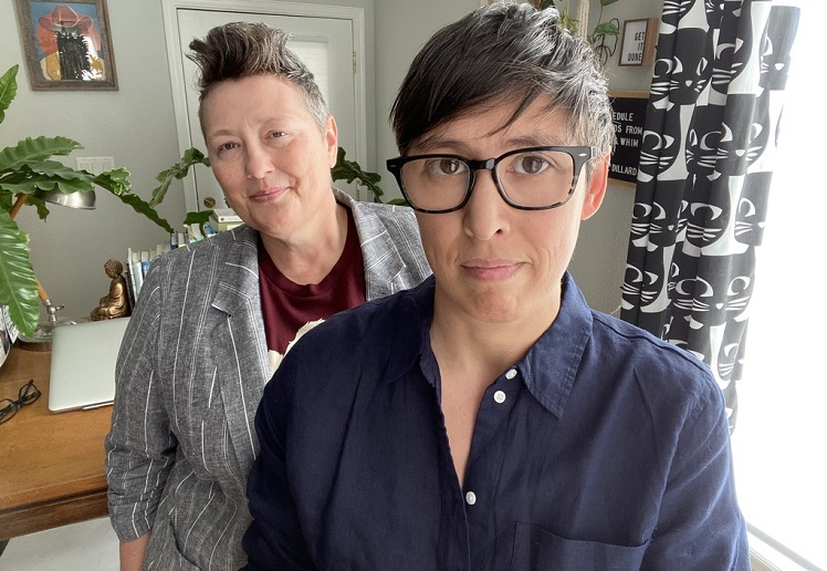 Laura Anh Williams and M. Catherine Jonet, associate professors of gender and sexuality studies and curators of Feminist Border Arts Film Festival. | Photo courtesy NMSU