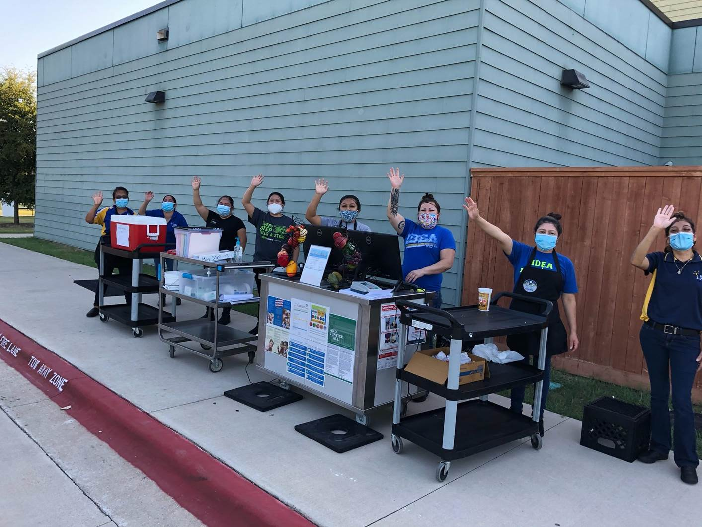 IDEA will serve curbside meals at all campuses to all children 18 years and under. | Photo courtesy IDEA Public Schools