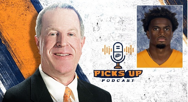 "UTEP Senior Wide Receiver Justin Garrett featured on ""Picks Up Podcast"""