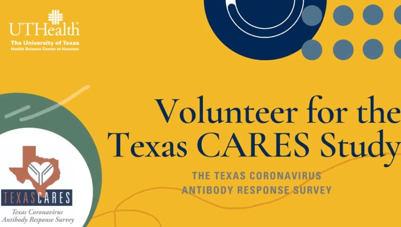 Volunteers needed to participate in Texas Coronavirus Antibody Response Survey