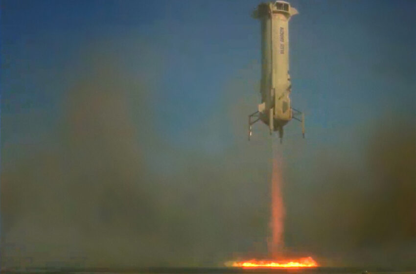 Blue Origin successfully completes NS-13 Mission, NASA Precision Lunar Landing Tech onboard