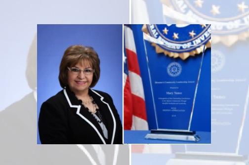 FBI El Paso presents 2019 Director's Community Leadership Award to Mary Aguilar Yañez