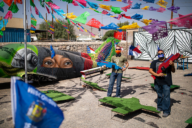 Two UTEP Faculty Members combine art, technology to highlight social challenges